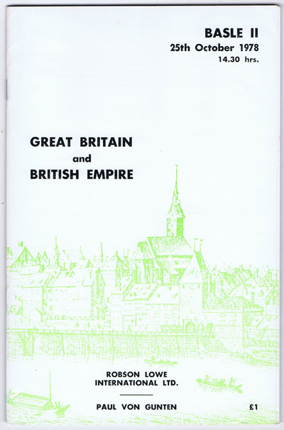 1978 (25 Oct) Great Britain and British Empire.