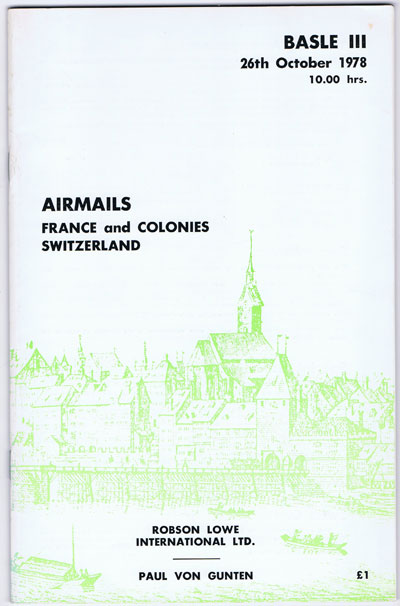 1978 (26 Oct) Airmails. France and Colonies and Switzerland.