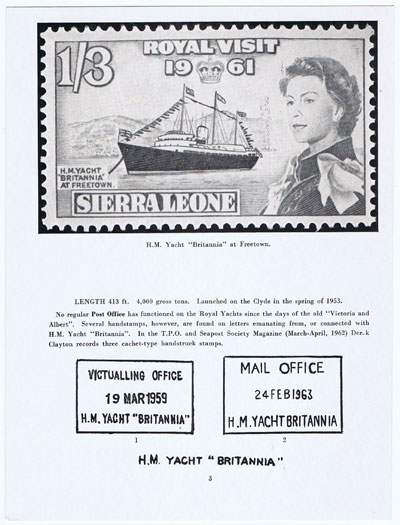 ROBERTSON A.W. Ships on Stamps.