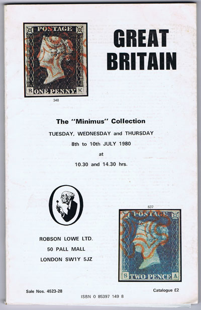 1980 (8-10 July) The Minimus collection of Great Britain