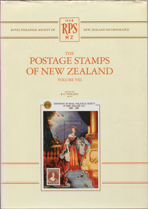 VINCENT B.G. The Postage Stamps of New Zealand. - Volume VIII.