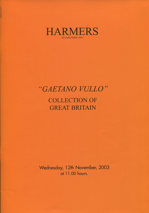 2003 Gaetano Vullo collection of Great Britain.