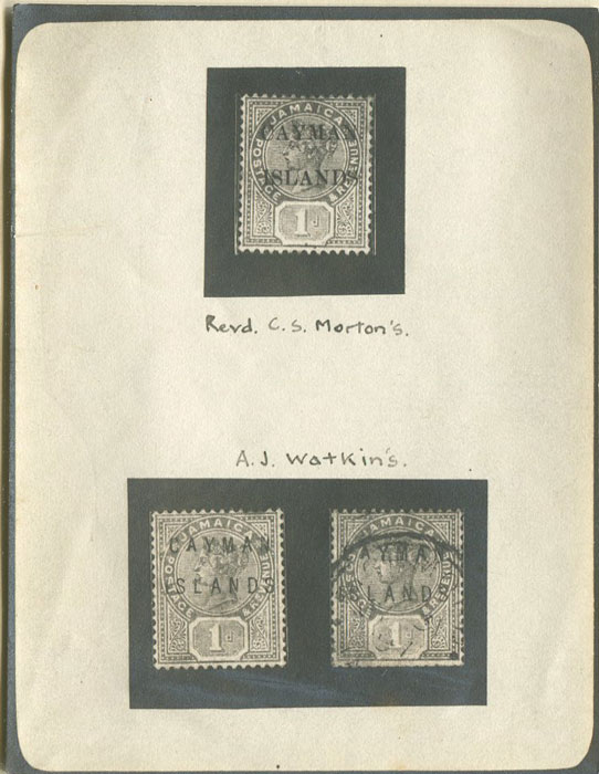 WATKIN A.J. Jamaican Stamps overprinted Cayman Islands.