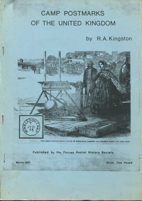 KINGSTON R.A. Camp Postmarks of the United Kingdom.