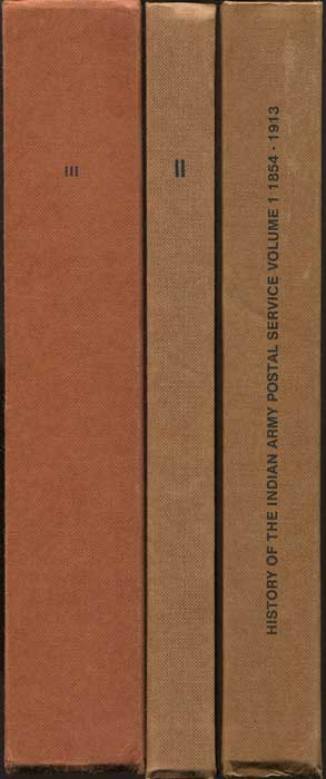 PROUD Edward B. History of the Indian Army Postal Service. Vols 1 - 3.