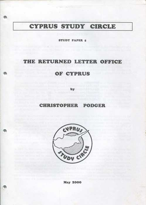 PODGER Christopher J. The Returned Letter Office of Cyprus
