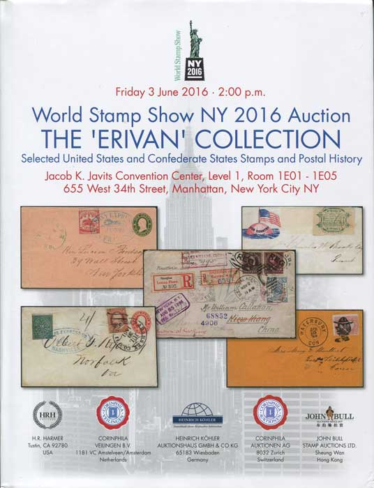 2016 (3 Jun) Erivan collection selected United States and Confederate States stamps and postal history