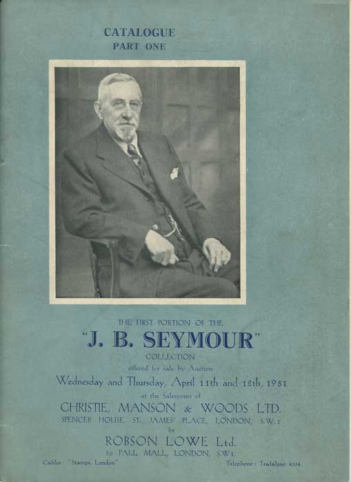 1951 (11-12 Apr) J.B. Seymour collection of nineteenth century Great Britain. - Part 1.