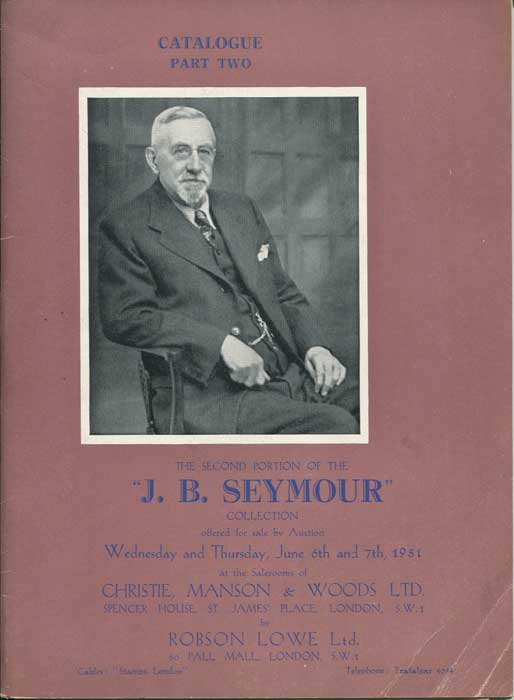 1951 (6-7 Jun) J.B. Seymour collection of C19th G.B. - Part 2.