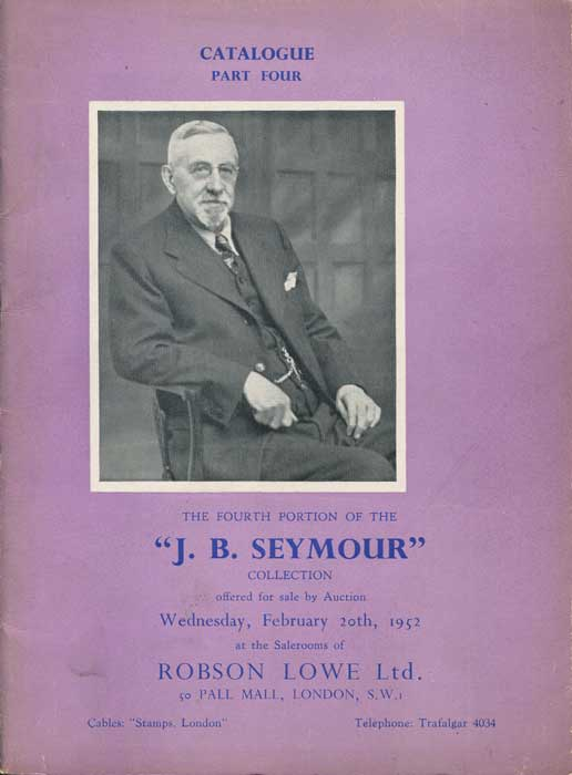 1952 (20 Feb) J.B. Seymour collection of nineteenth century Great Britain. - Part 4.