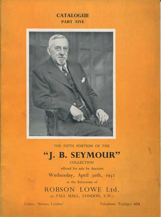 1952 (30 Apr) J.B. Seymour collection of nineteenth century Great Britain. - Part 5.