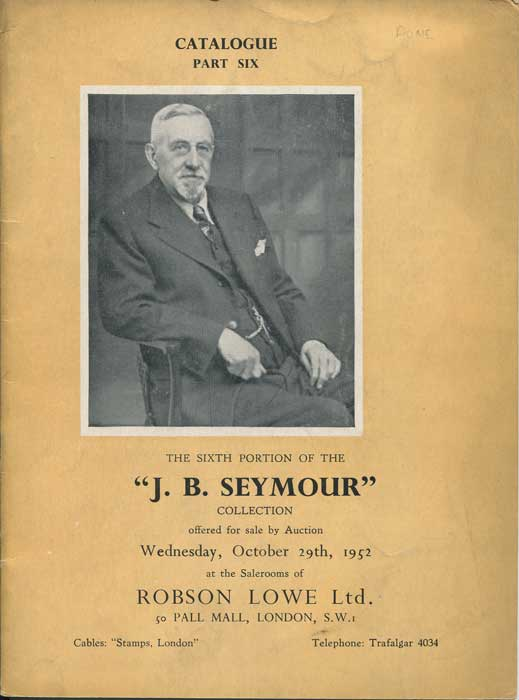 1952 (29 Oct) J.B. Seymour collection of nineteenth century Great Britain. - Part 6.