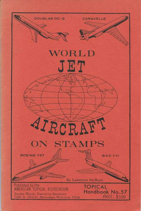 DE MARS Lawrence World jet aircraft on stamps (Topical handbook)