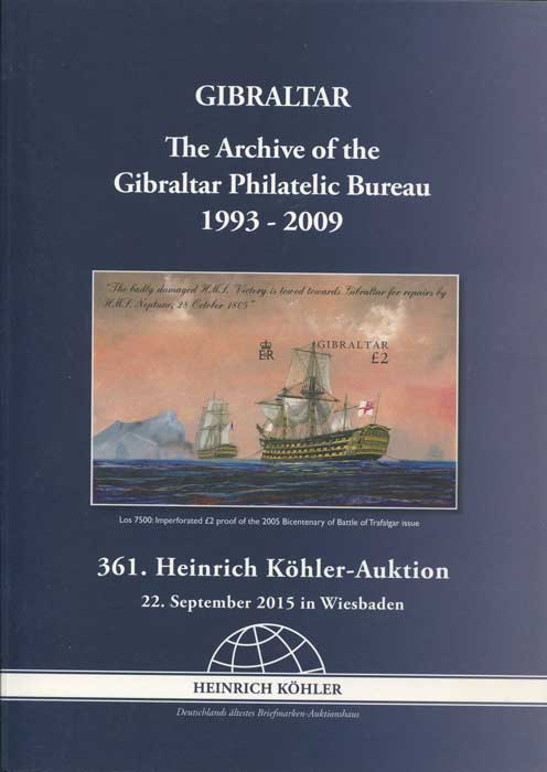 2015 (22 Sep) The Archive of the Gibraltar Philatelic Bureau 1993-2009