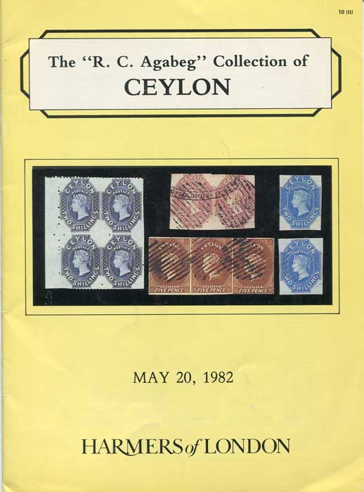 1982 (20 May) R.C. Agabeg collection of Ceylon.