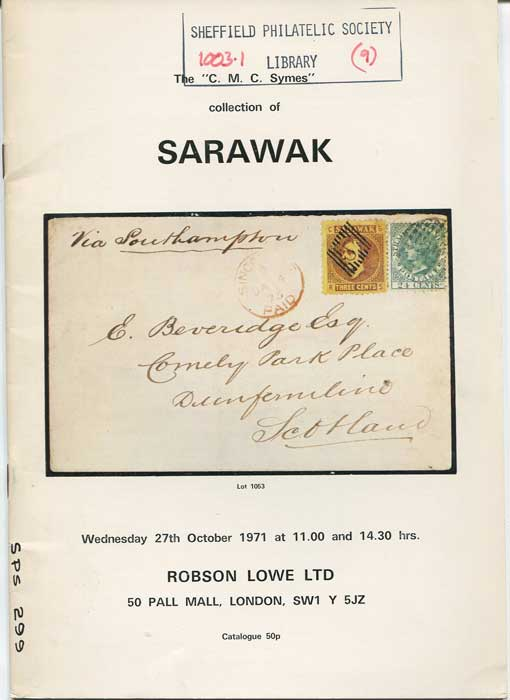 1971 (27 Oct) C.M.C. Symes collection of Sarawak.
