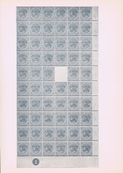 BROWN William A reference list of the stamps of the Straits Settlements, - surcharged for use in the Native Protected States.