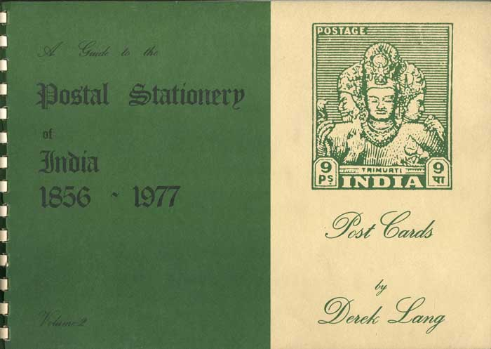 LANG Derek A Guide to the postal stationery of India 1856-1977 - Vol. 2 Post Cards