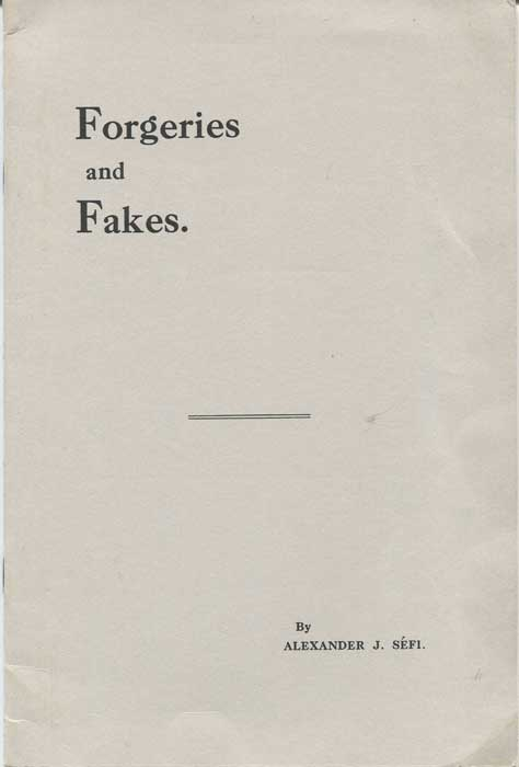 SEFI Alexander J. Forgeries and Fakes