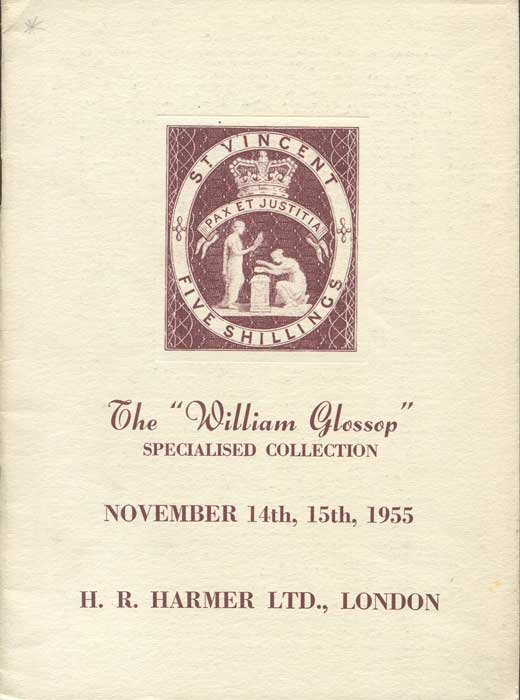 1955 (14-15 Nov) William Glossop specialised collection of St Vincent