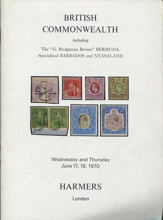 1970 (17-18 Jun) British Commonwealth including G. Bridgmore Brown Bermuda.