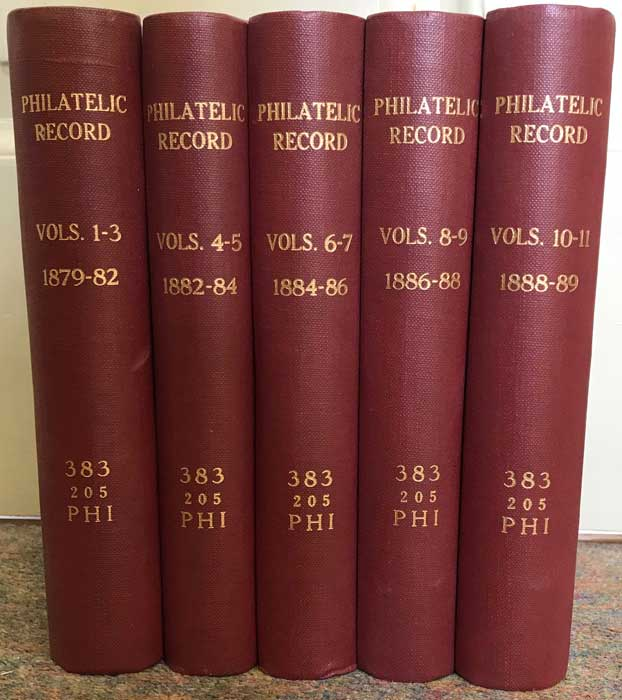 PEMBERTON E.L. The Philatelic Record. Vols 1 - 11