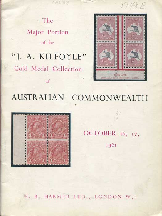 1961 (16-17 Oct) J.A. Kilfoyle collection of Australian Commonwealth