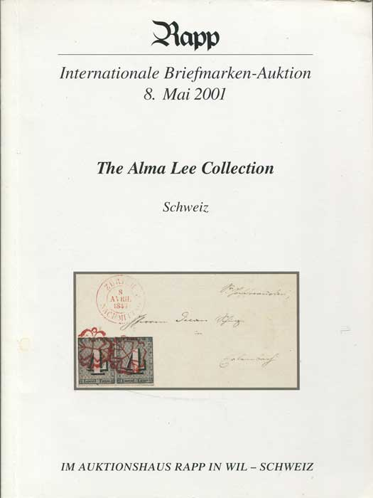2001 (8 May) The Alma Lee collection Schweiz