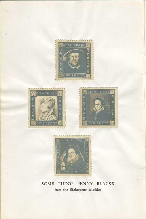 HIGLETT G.A. Shakespeare as a stamp collector
