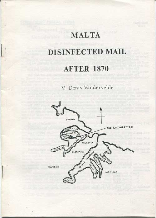 VANDERVELDE V. Denis Malta Disinfected Mail after 1870