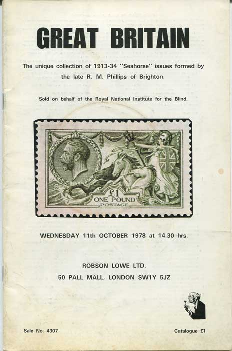 1978 (11 Oct) Great Britain. Collection of 1913-34 Seahorse issues formed by R.M. Phillips