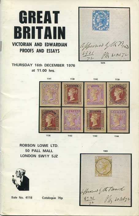 1976 (16 Dec) Great Britain. Victorian and Edwardian proofs and essays