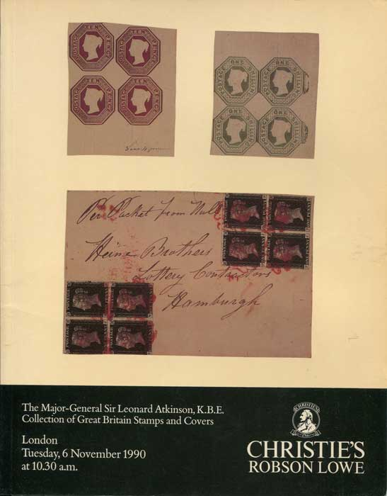 1990 (6 Nov) Major-General Sir Leonard Atkinson collection of Great Britain stamps and covers