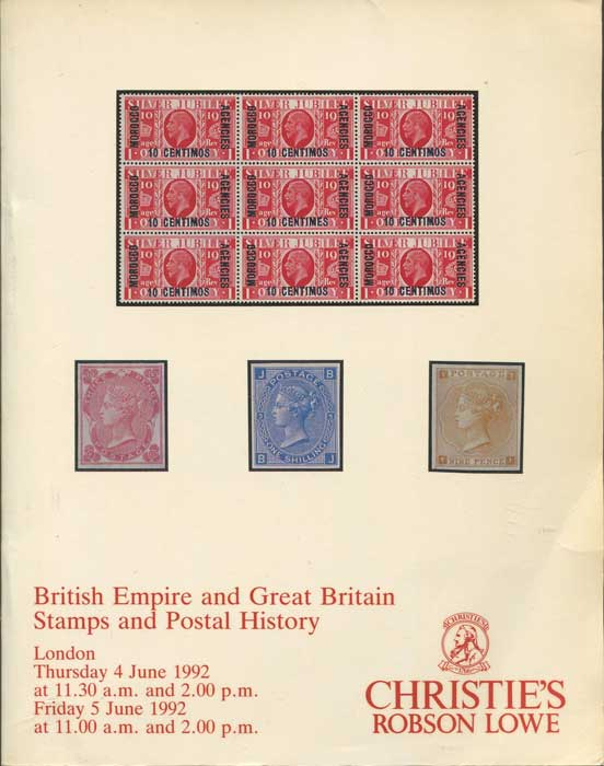 1992 (4-5 Jun) British Empire and Great Britain stamps and postal history