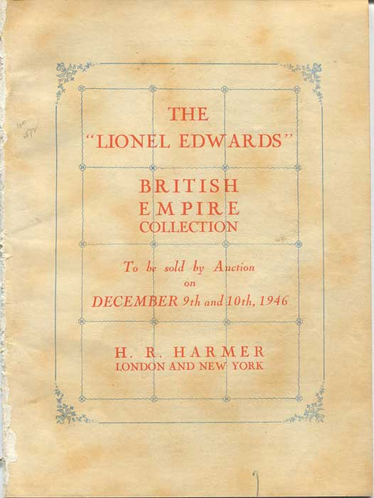 1946 (9-10 Dec) Lionel Edwards British Empire collection