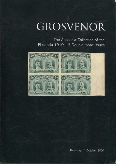 2007 (11 Oct) Apollonia collection of the Rhodesia 1910-13 Double Head Issues