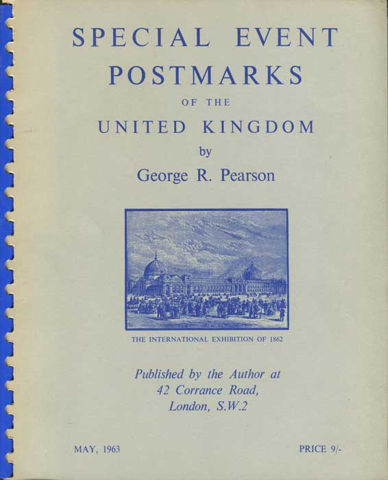 PEARSON George R. Special Event Postmarks of the United Kingdom