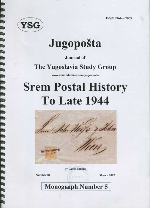 BARLING Geoff Srem Postal History to late 1944