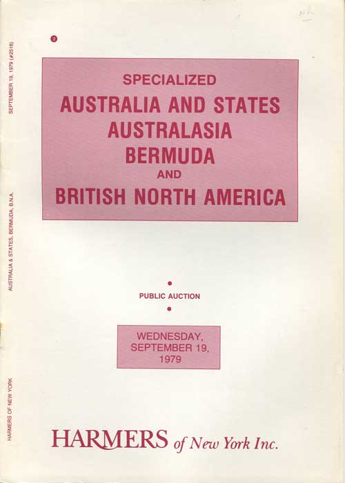 1979 (19 Sep) Specialised Australia and States, Australasia, Bermuda & British North America