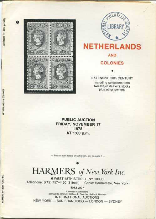 1978 (17 Nov) Netherlands and Colonies