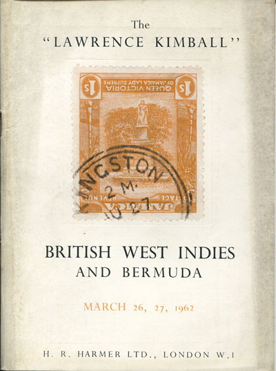1962 (26-27 Mar) British West Indies and Bermuda. - Lawrence Kimball collection.