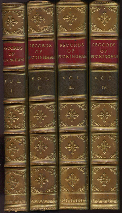 BUCKINGHAMSHIRE Records of Buckinghamshire, - or papers and notes on the history, antiquities and architecture of the county;  together with transactions of the architectural and archaelogical society.