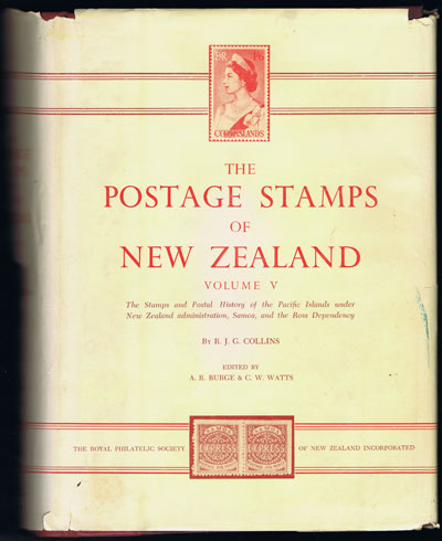 COLLINS J.G. and WATTS C.W. The postage stamps of New Zealand. - Vol. V