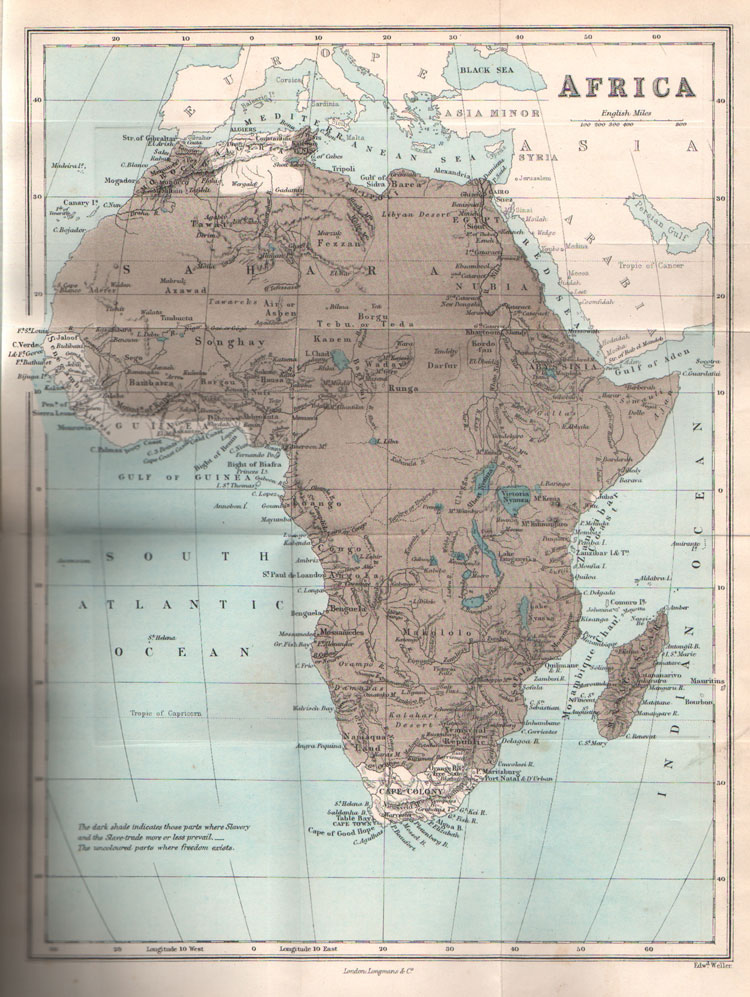 COOPER Joseph The Lost Continent; - or Slavery and the Slave Trade in Africa, 1875.
