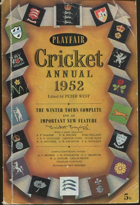 WEST Peter Playfair Cricket Annual 1952