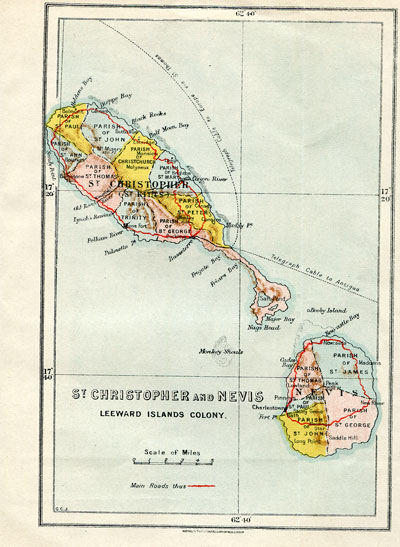 WATERLOW & SON St Christopher and Nevis. - Leeward Islands Colony