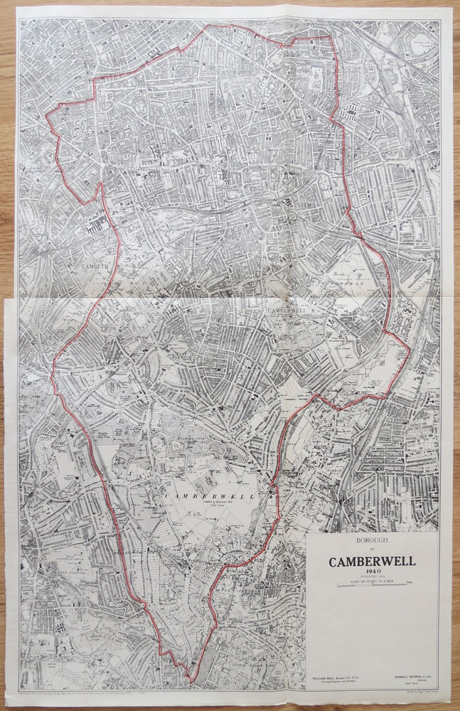 BELL William Borough of Camberwell 1940, reprinted 1944.