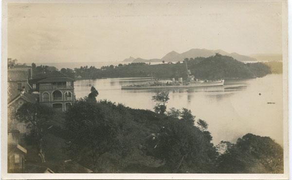 ANON H.M.S. Calcutta arriving at St Lucia