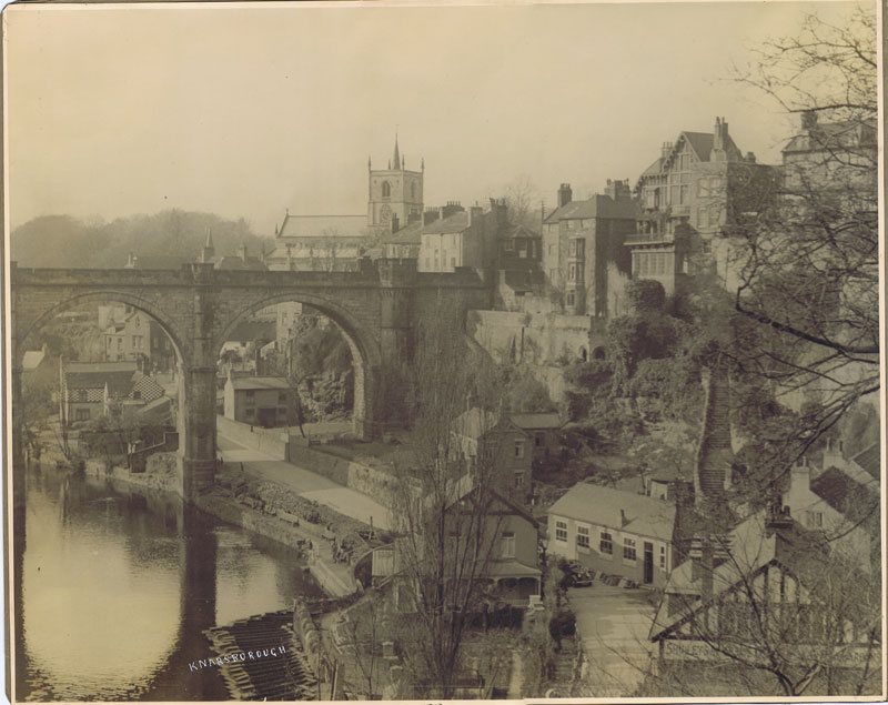 KNARESBOROUGH View of viaduct from Castle top