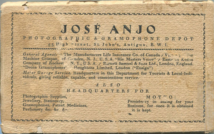 ANJO Jose Pictures of the Visit of His Royal Highness The Prince of Wales to the Leeward Islands, Antigua, September 28th 1920